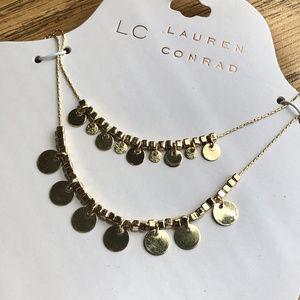 LC Lauren Conrad Necklace * Dangling Circles, NWT